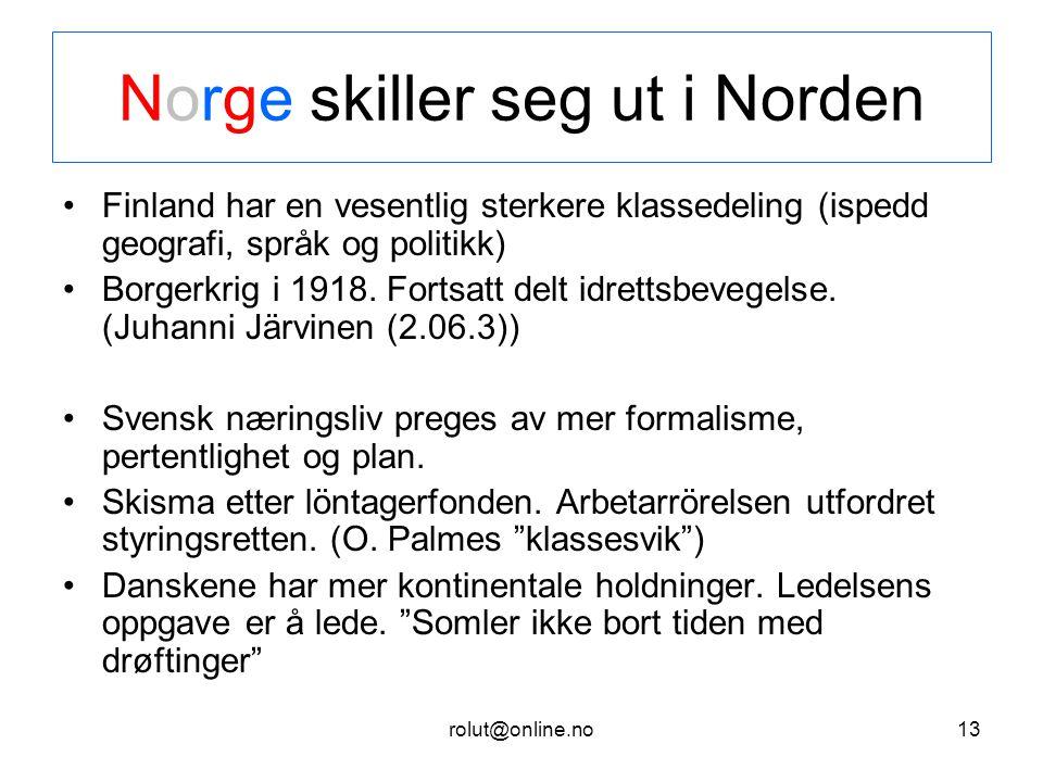 Norge skiller seg ut i Norden