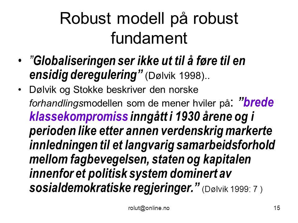 Robust modell på robust fundament