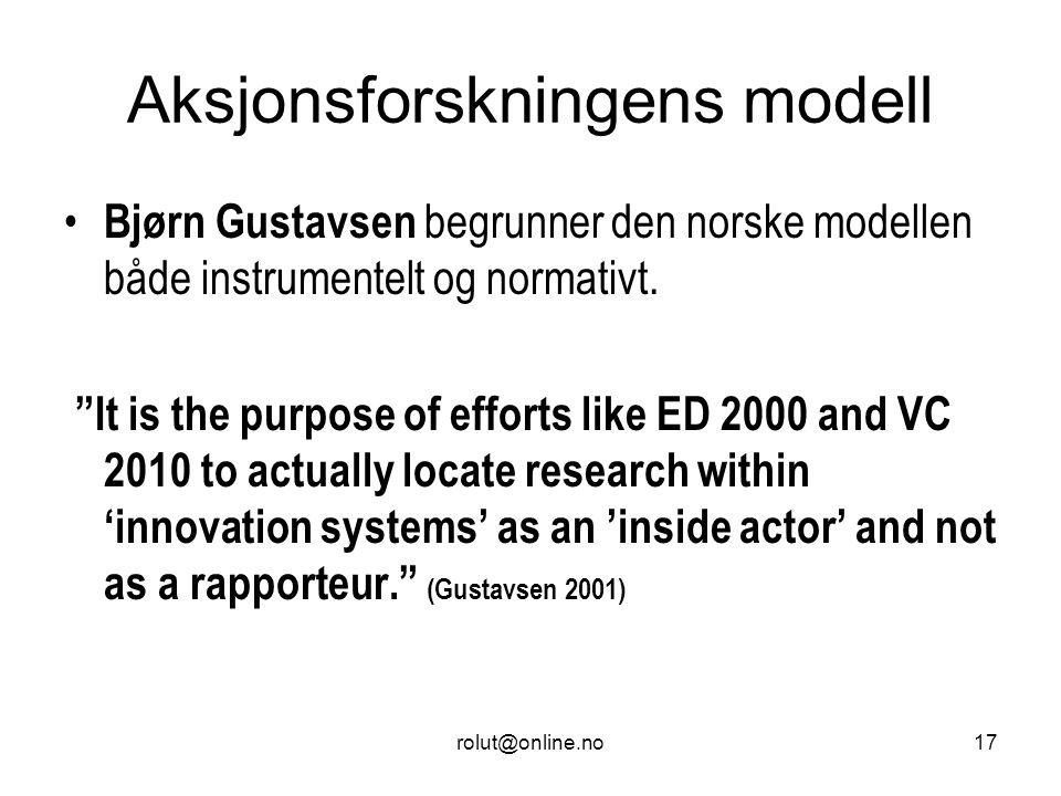 Aksjonsforskningens modell
