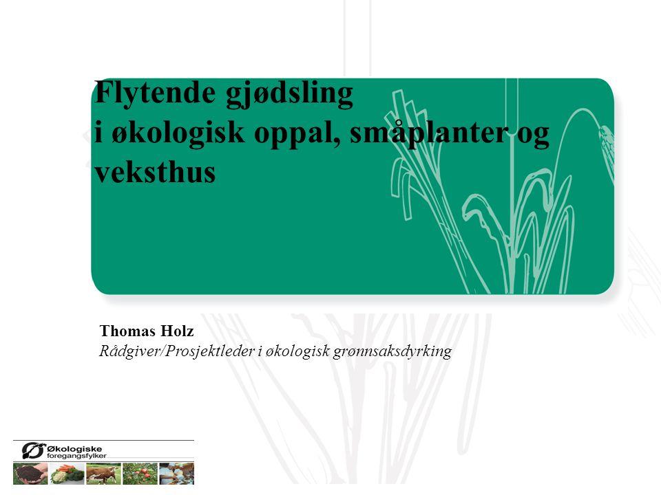 i økologisk oppal, småplanter og veksthus