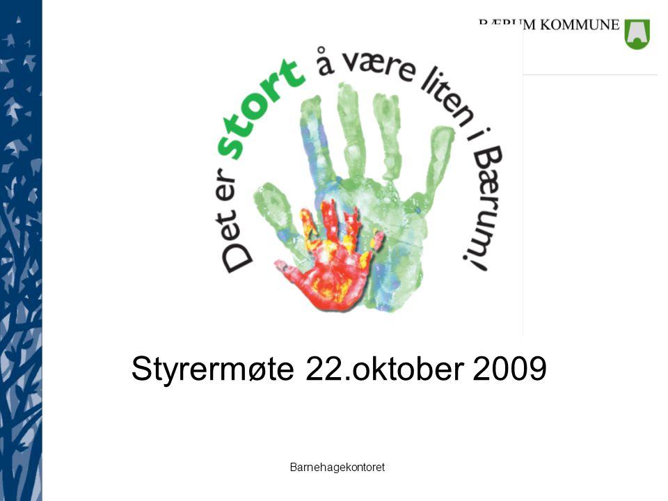 Styrermøte 22.oktober 2009