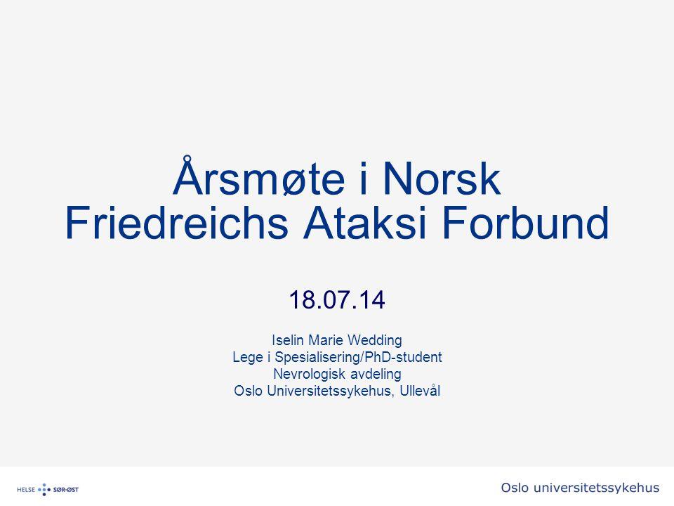 Årsmøte i Norsk Friedreichs Ataksi Forbund