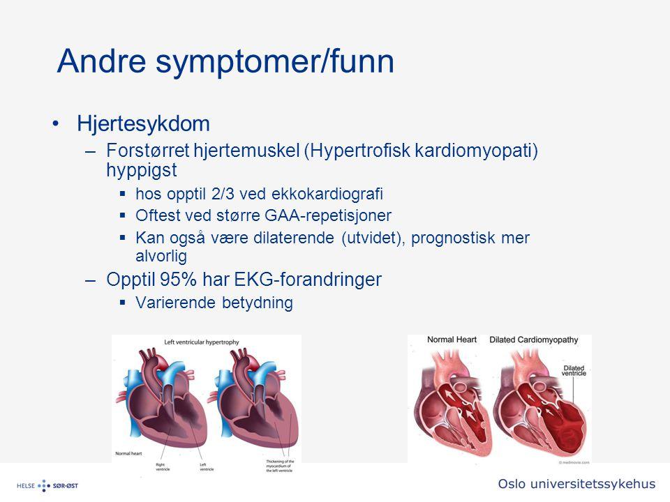 Andre symptomer/funn Hjertesykdom