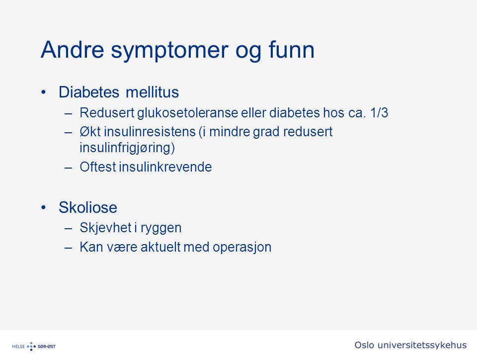Andre symptomer og funn