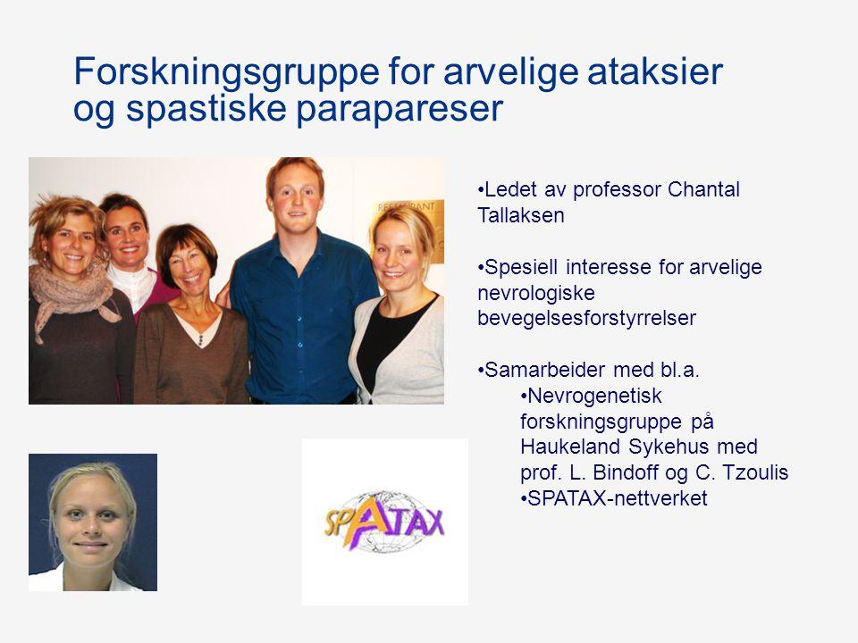 Forskningsgruppe for arvelige ataksier og spastiske parapareser