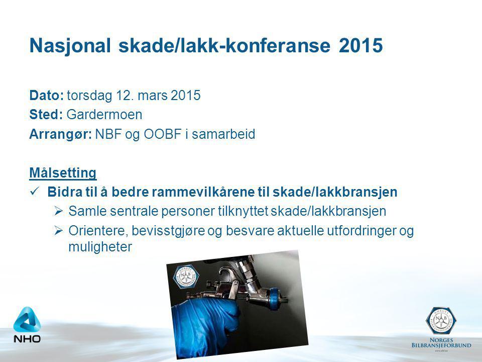 Nasjonal skade/lakk-konferanse 2015