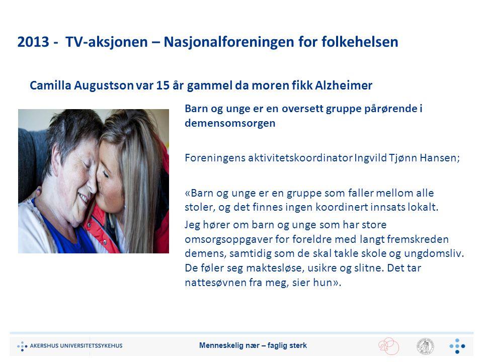 2013 - TV-aksjonen – Nasjonalforeningen for folkehelsen
