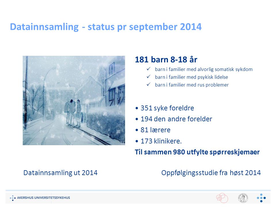 Datainnsamling - status pr september 2014