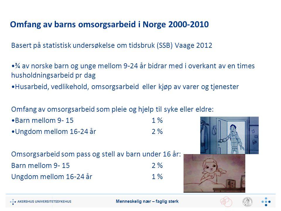 Omfang av barns omsorgsarbeid i Norge 2000-2010