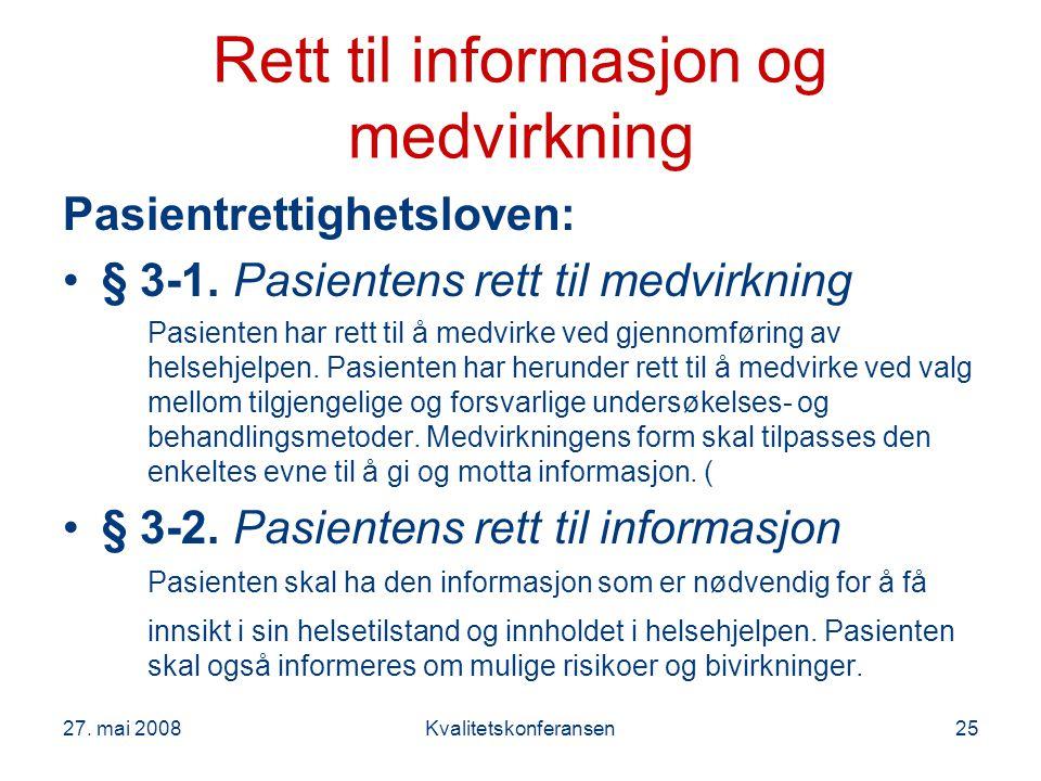 Rett til informasjon og medvirkning