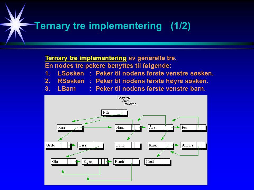 Ternary tre implementering (1/2)