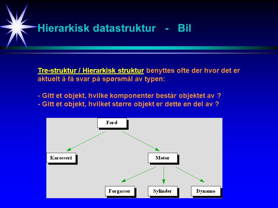 Hierarkisk datastruktur - Bil