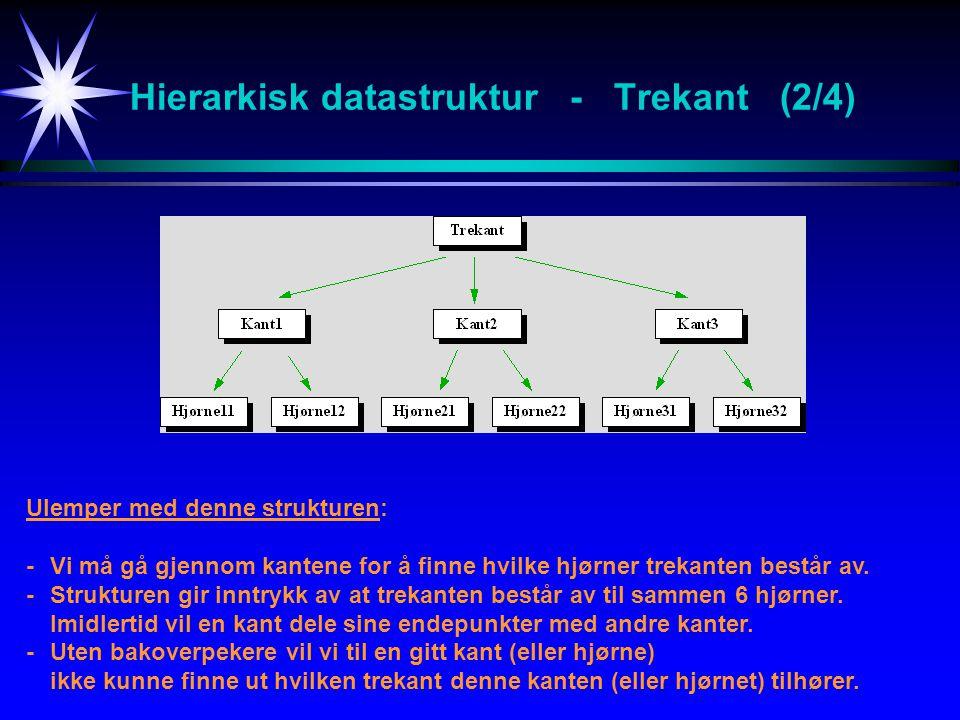 Hierarkisk datastruktur - Trekant (2/4)