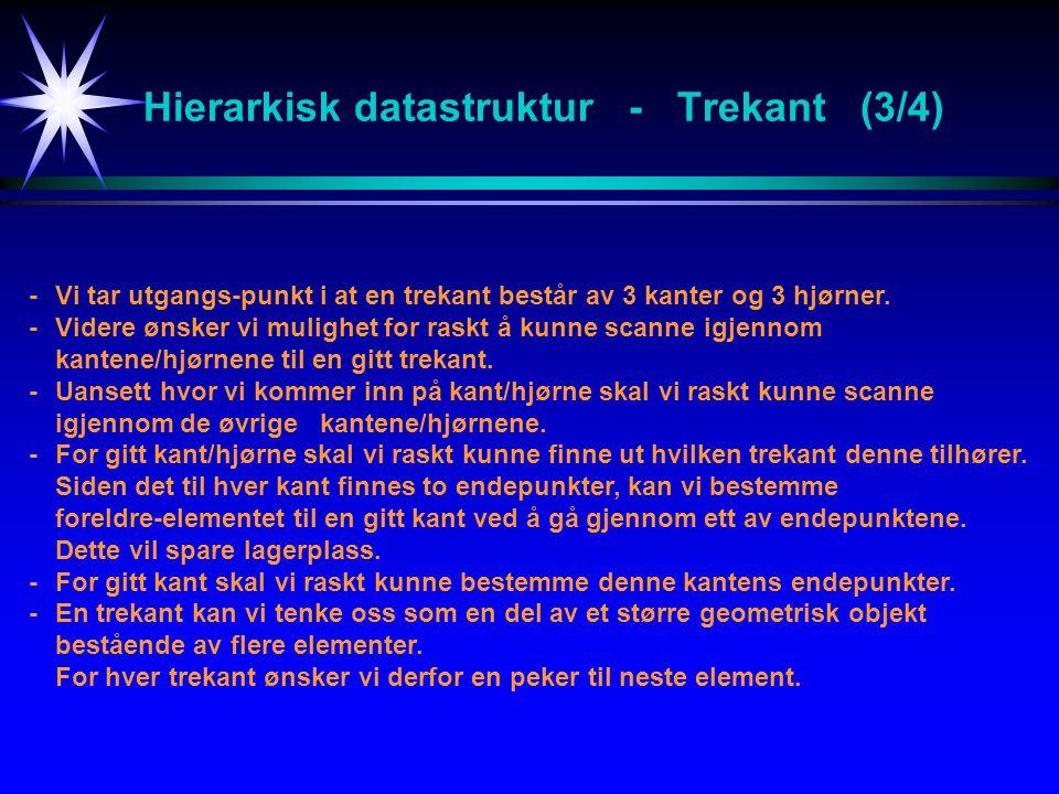Hierarkisk datastruktur - Trekant (3/4)