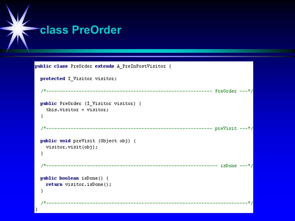 class PreOrder PreOrder