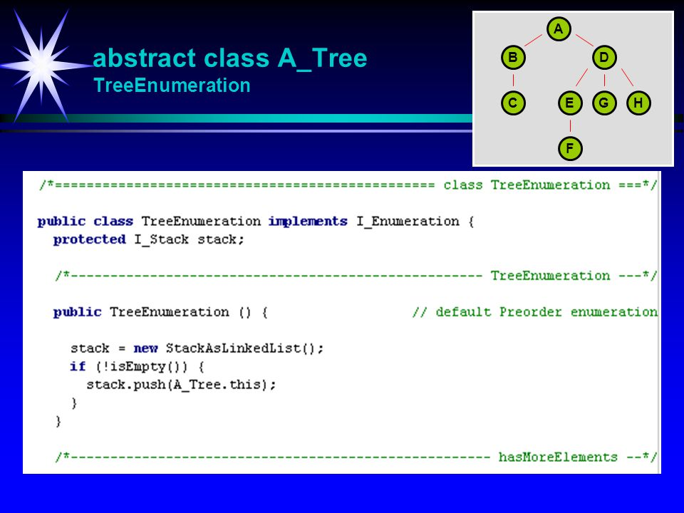 abstract class A_Tree TreeEnumeration