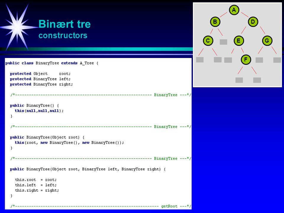 Binært tre constructors
