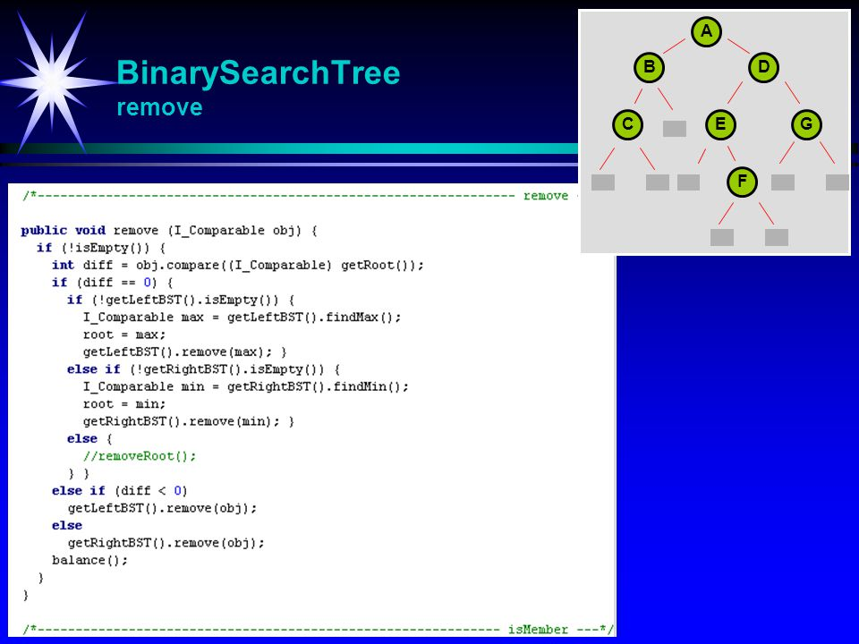 BinarySearchTree remove