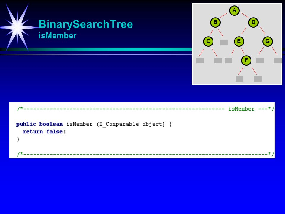 BinarySearchTree isMember