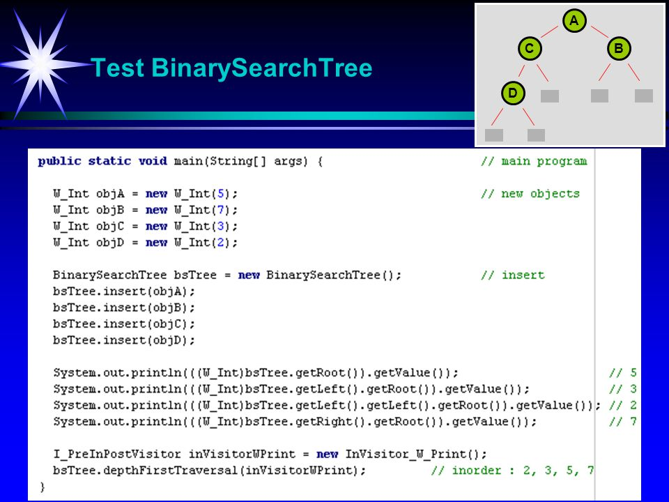 Test BinarySearchTree
