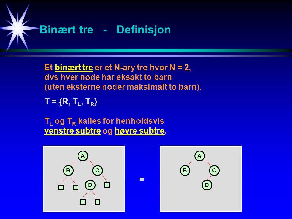 Binært tre - Definisjon