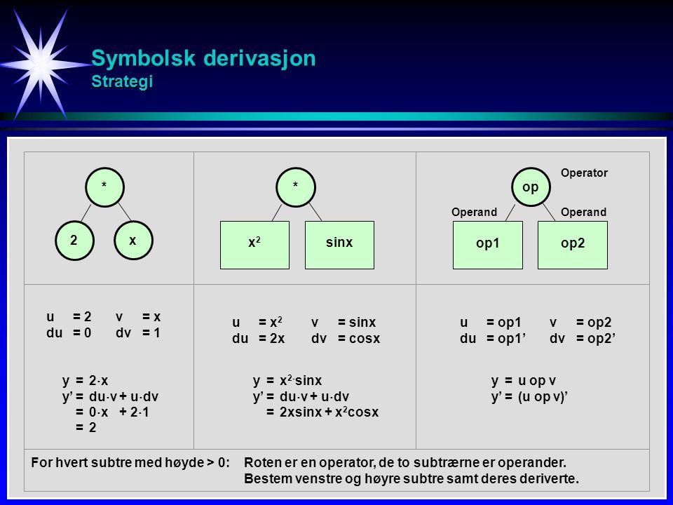 Symbolsk derivasjon Strategi