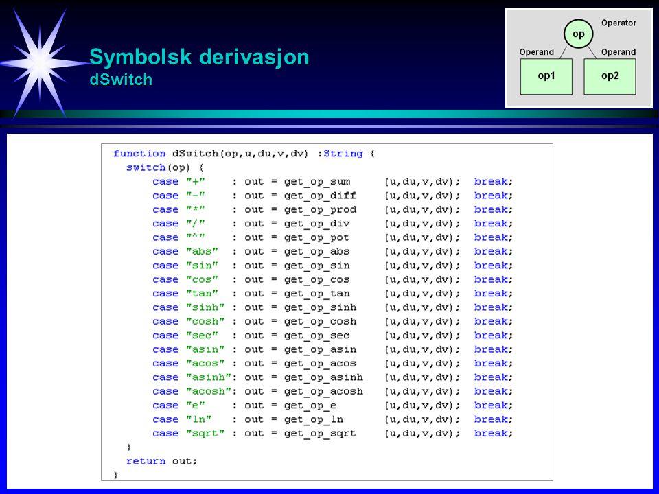 Symbolsk derivasjon dSwitch