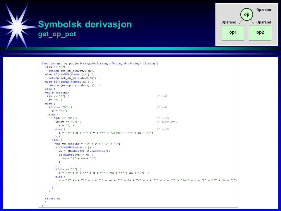 Symbolsk derivasjon get_op_pot