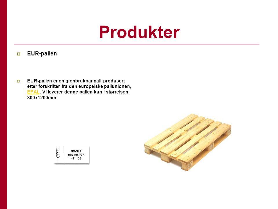 Produkter EUR-pallen.