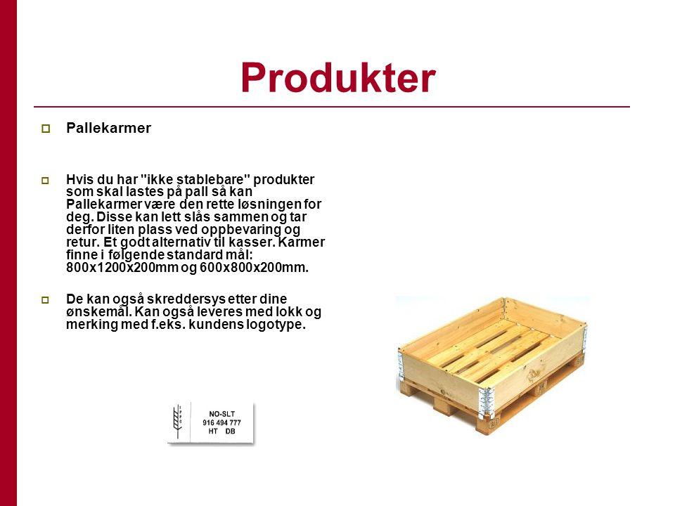 Produkter Pallekarmer