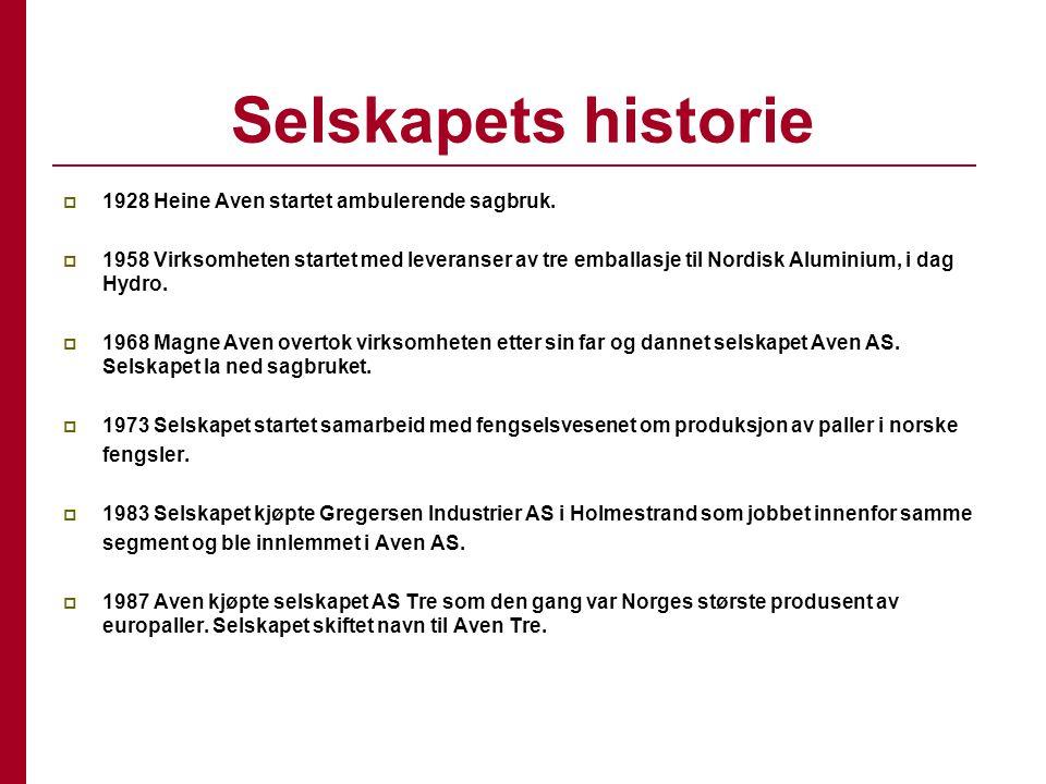 Selskapets historie 1928 Heine Aven startet ambulerende sagbruk.