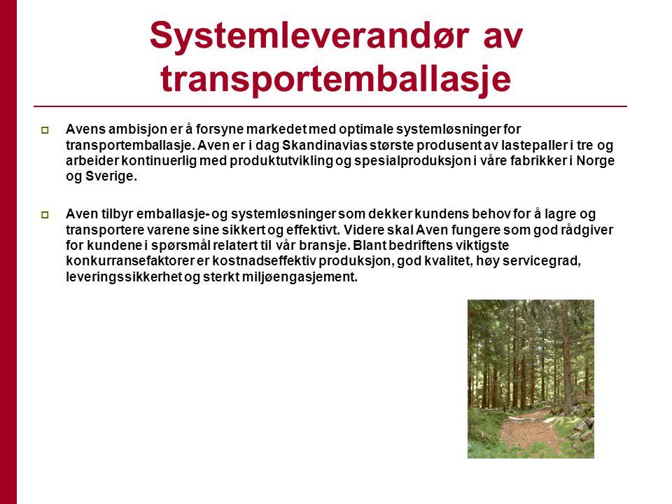 Systemleverandør av transportemballasje