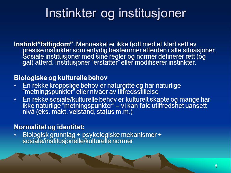 Instinkter og institusjoner