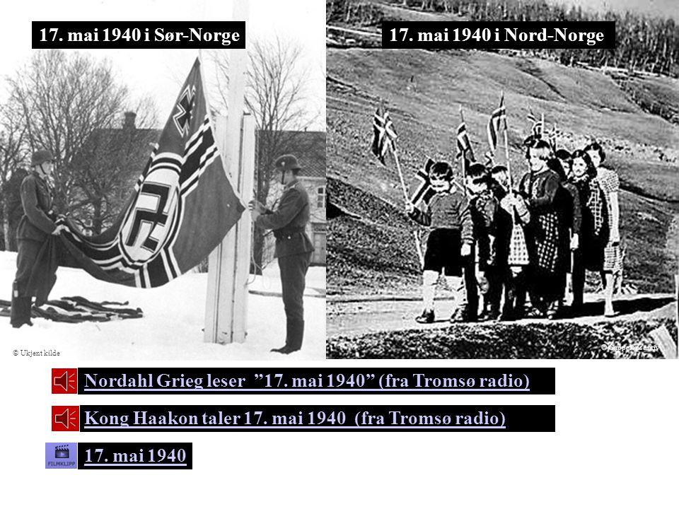 Nordahl Grieg leser 17. mai 1940 (fra Tromsø radio)