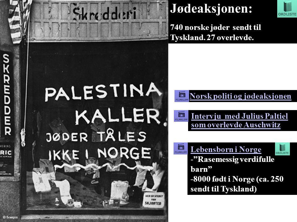 Jødeaksjonen: 740 norske jøder sendt til Tyskland. 27 overlevde.
