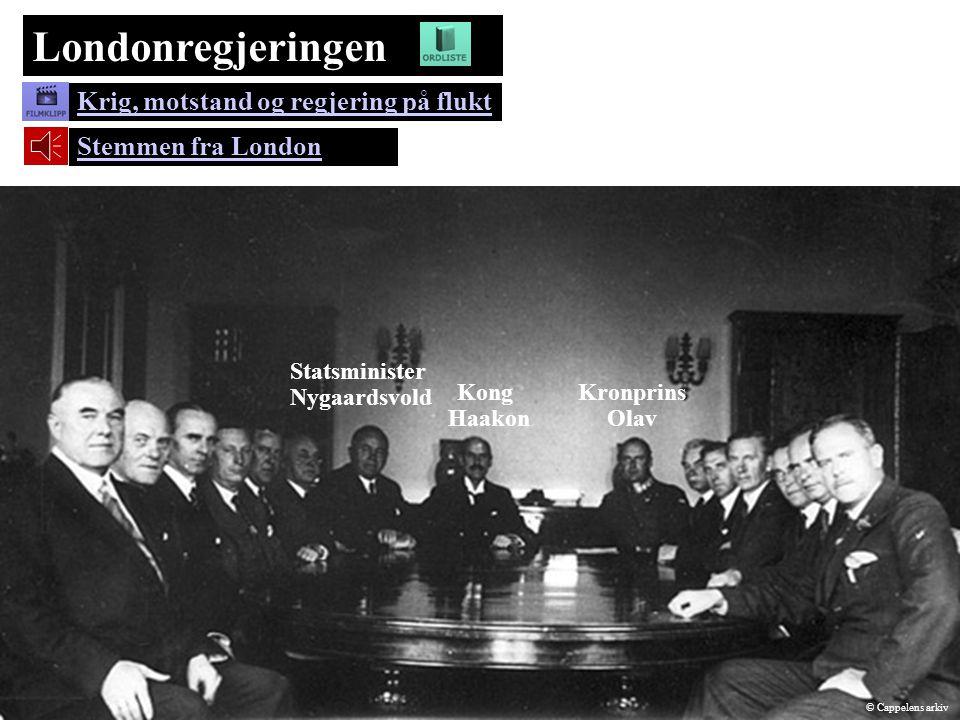 Londonregjeringen Krig, motstand og regjering på flukt