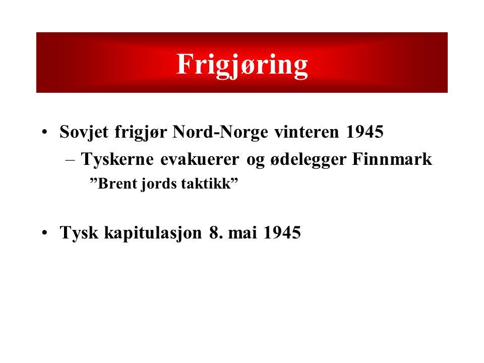 Frigjøring Sovjet frigjør Nord-Norge vinteren 1945