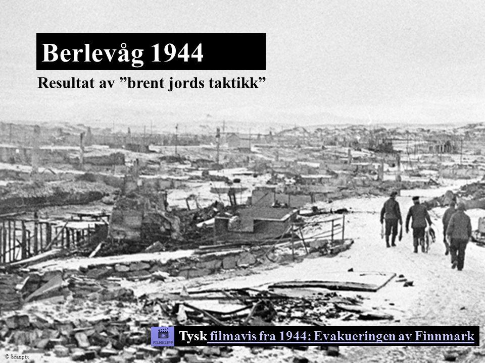 Berlevåg 1944 Resultat av brent jords taktikk