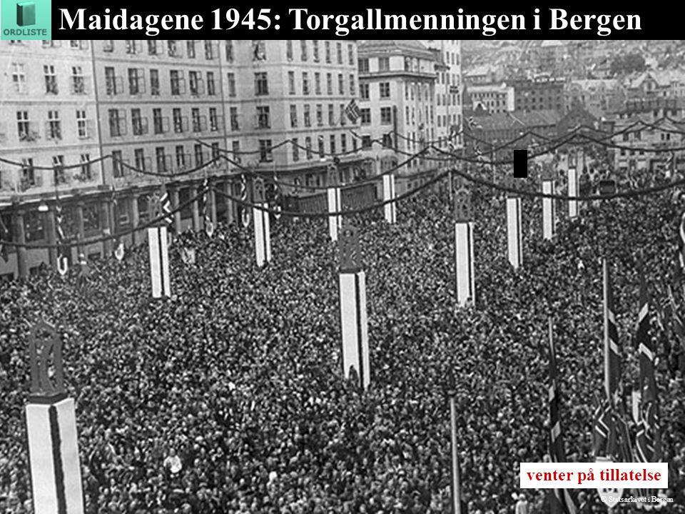 Maidagene 1945: Torgallmenningen i Bergen