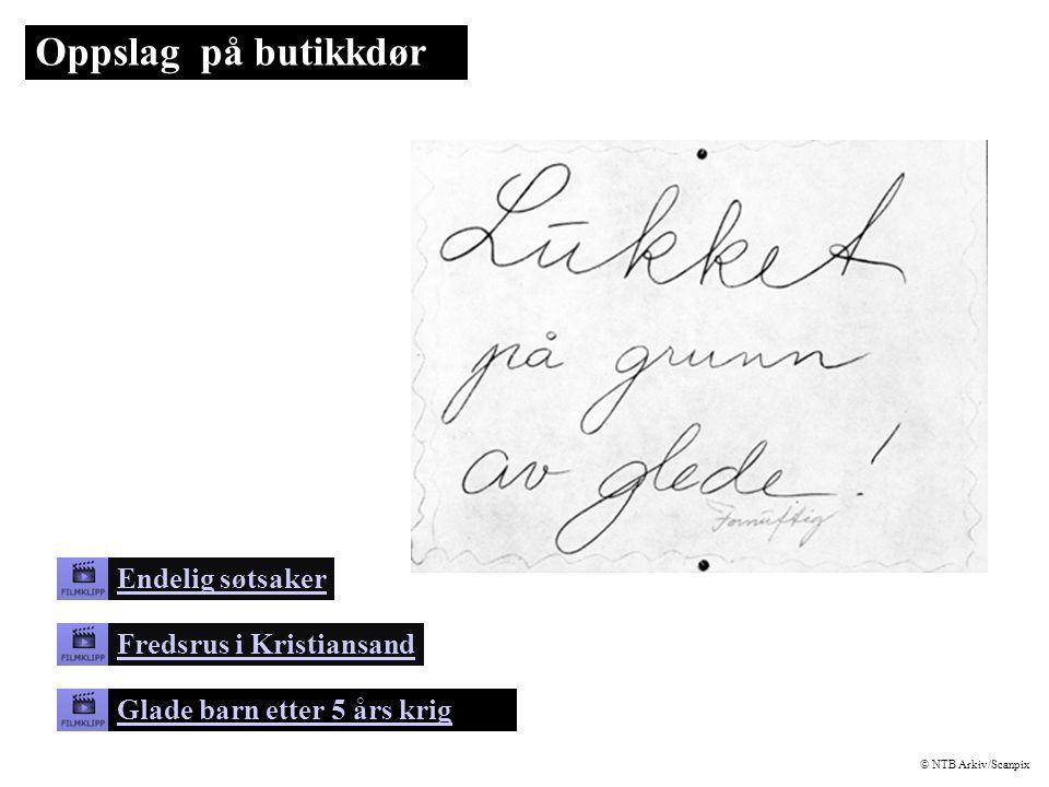 Oppslag på butikkdør Endelig søtsaker Fredsrus i Kristiansand