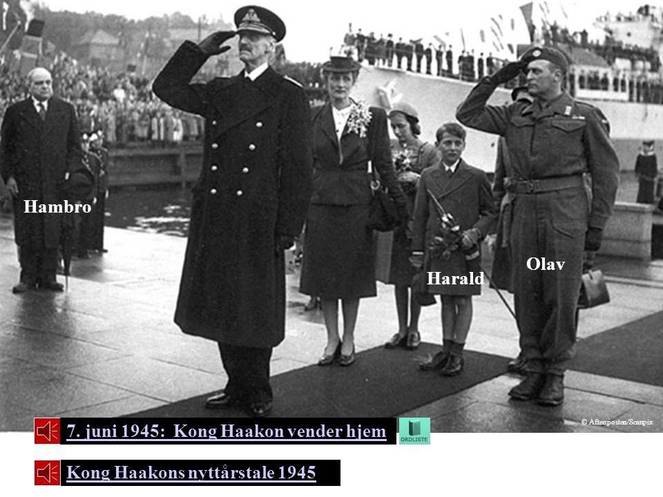 7. juni 1945: Kong Haakon vender hjem