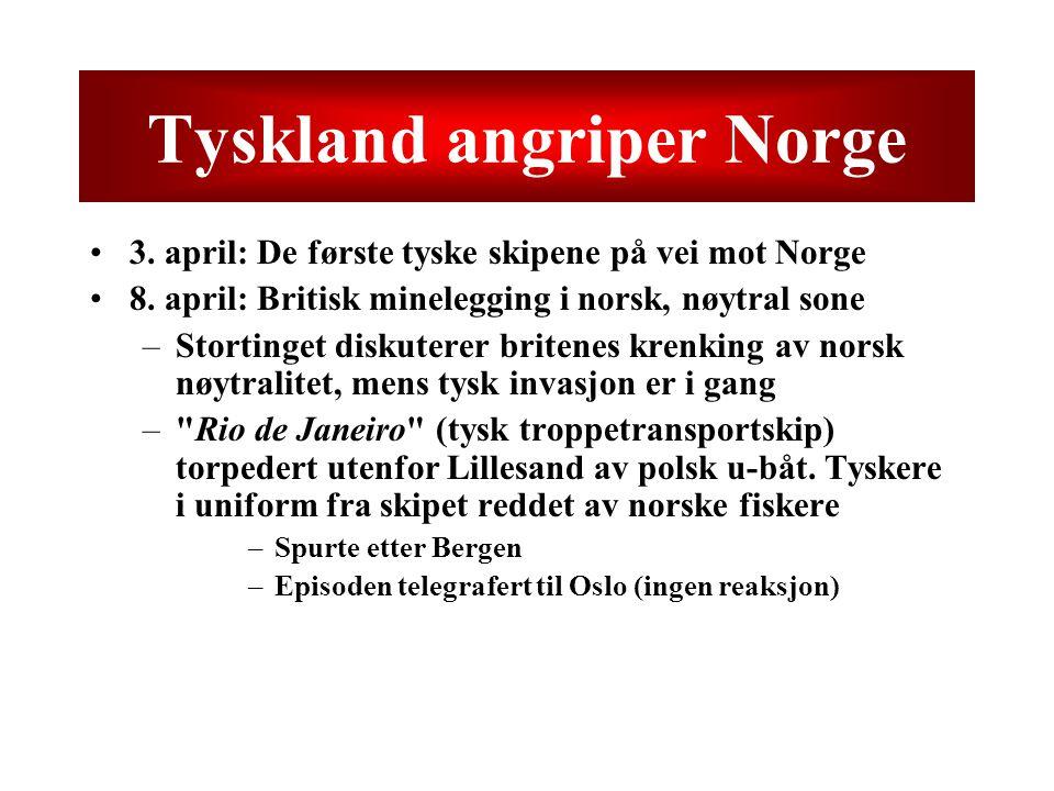 Tyskland angriper Norge