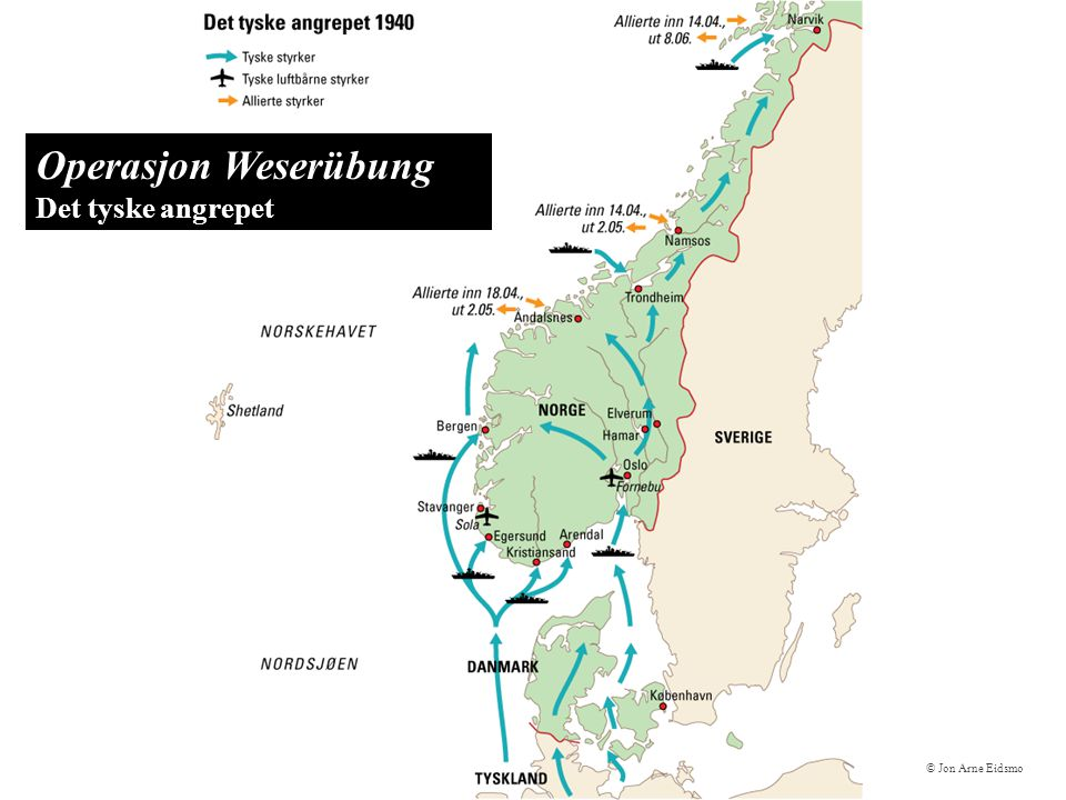 Operasjon Weserübung Det tyske angrepet