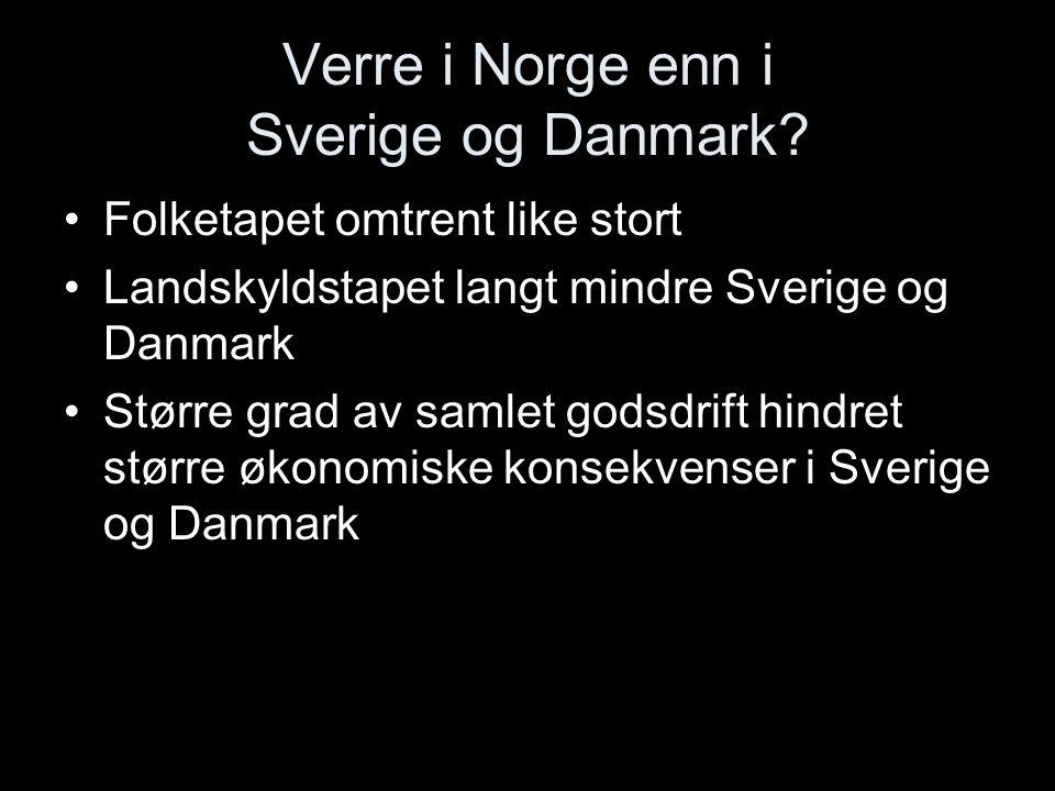 Verre i Norge enn i Sverige og Danmark