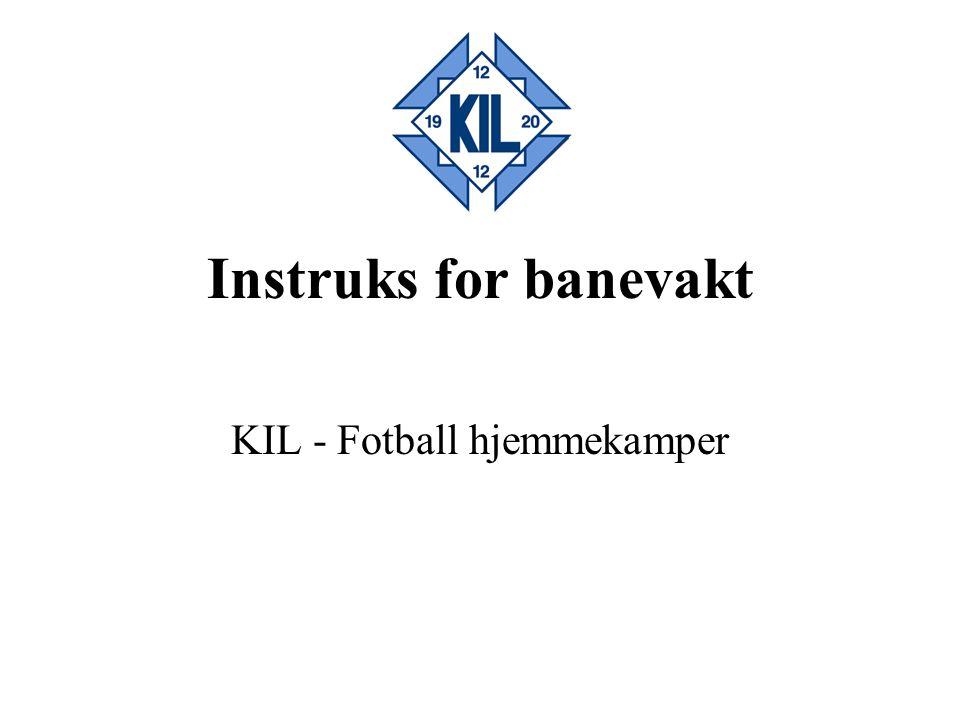 KIL - Fotball hjemmekamper