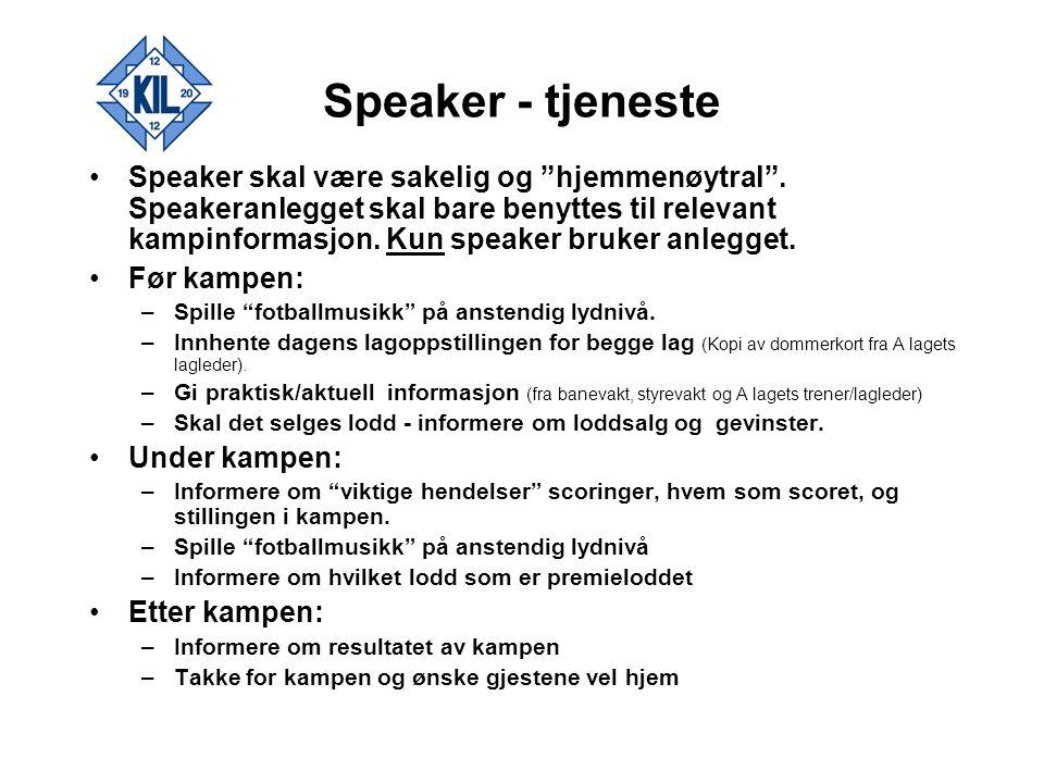 Speaker - tjeneste