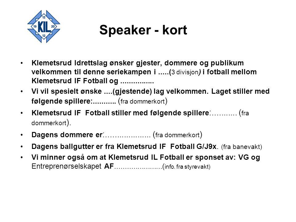 Speaker - kort