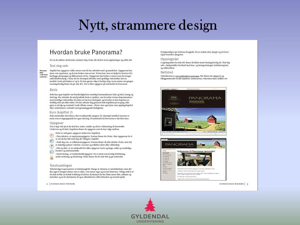 Nytt, strammere design