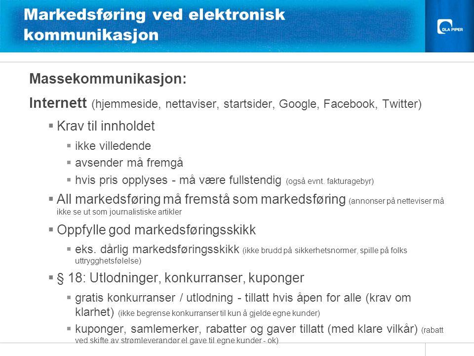 Markedsføring ved elektronisk kommunikasjon