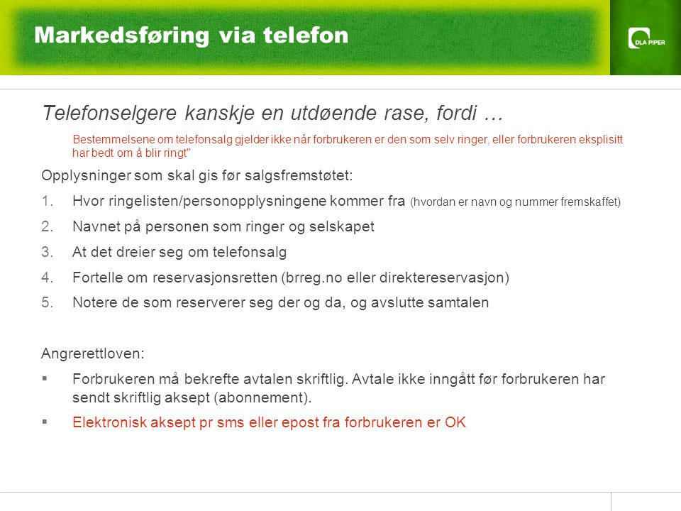 Markedsføring via telefon